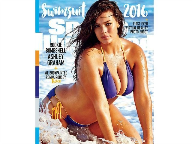 "63e2431d6a746 Plus-size model Ashley Graham will make history Monday when she becomes the  first size-16 model to cover Sports Illustrated magazine s vaunted ""Swimsuit  ..."