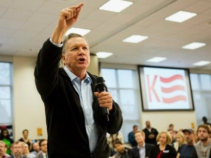 Republican presidential candidate, Ohio Gov. John Kasich speaks at a town hall campaign event at Kennesaw State University, Tuesday, Feb. 23, 2016, in Kennesaw, Ga. (