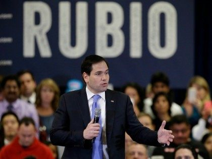 Republican presidential candidate Marco Rubio speaks at a rally Wednesday, Feb. 24, 2016, in Houston.