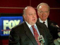 "FILE - In this Jan. 30, 1996 file photo, Roger Ailes, left, newly named chairman and CEO of News Corp.'s FOX News, answers questions at a news conference in New York as Rupert Murdoch, Chairman and CEO of The News Corporation Limited, looks on. Propelled by Ailes' ""fair and balanced"" …"