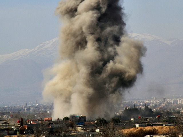Assad Barrel Bombs Daraya REUTERSOmar Abu Bakr