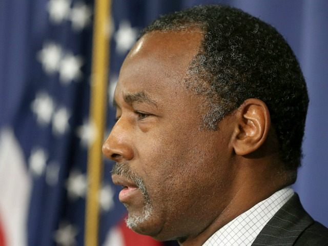 WASHINGTON, DC - FEBRUARY 03: Republican Presidential candidate Dr. Ben Carson speaks to the media at the National Press Club February 3, 2016 in Washington, DC.