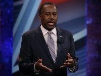 Republican presidential candidate Ben Carson participates in a CNN South Carolina Republican Presidential Town Hall February 17, 2016 in Greenville, South Carolina.