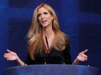 Conservative author and pundit Ann Coulter delivers remarks to the Conservative Political Action Conference (CPAC) at the Marriott Wardman Park February 10, 2012 in Washington, DC. Thousands of conservative activists are attending the annual gathering in the nation's capital. (Photo by