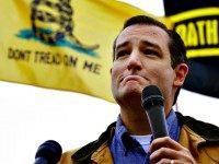 Tea Party Sen. Ted Cruz, R-Texas, speaks at a rally at the World War II Memorial in Washington Sunday, Oct. 13, 2013, as Senate leaders have taken the helm in the search for a deal to end the partial government shutdown and avert a federal default. The rally was organized …
