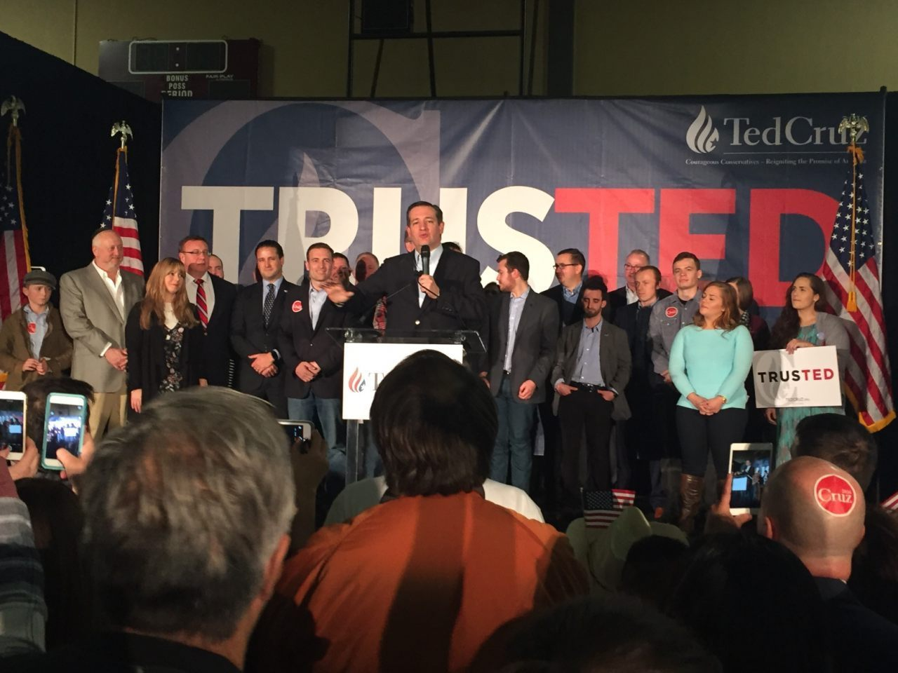 Cruz at NV Victory Party
