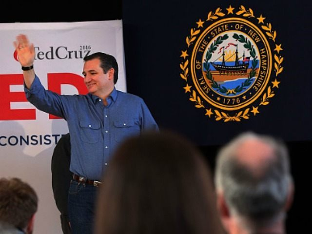 Republican presidential candidate Sen. Ted Cruz (R-TX) speaks at a Town Hall event on February 7, 2016 in Peterborough, New Hampshire. Cruz, who won the Iowa caucus, is hoping for another strong showing in Tuesday's New Hampshire primary despite the state's more moderate base. (Photo by