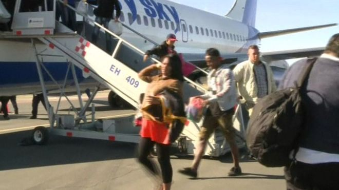 Cuban Refugees including pregnant women arrive in Mexico from Costa Rica. (Photo: Reuters)