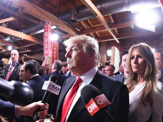 Donald Trump spin room (Rainier Ehrhardt / Associated Press)