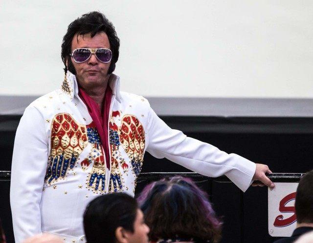 Elvis at Trump rally (Erik Kabik Photography / MediaPunch / IPX / AP)