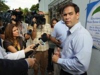 MIAMI - AUGUST 24: Marco Rubio, Republican candidate for Florida's U.S. Senate seat, speaks to the media after voting as he and other Floridians head to the polls on primary day on August 24, 2010 in Miami, Florida. Rubio will face off against the Independent candidate, current Florida Gov. Charlie …