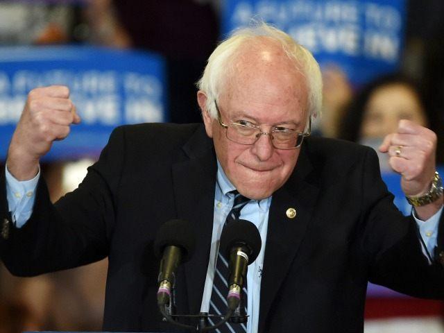 LAS VEGAS, NV - FEBRUARY 14: Democratic presidential candidate Sen. Bernie Sanders (I-VT) gestures as he speaks at a rally at Bonanza High School on February 14, 2016 in Las Vegas, Nevada. Sanders is challenging Hillary Clinton for the Democratic presidential nomination ahead of Nevada's Feb. 20 Democratic caucus. (Photo …