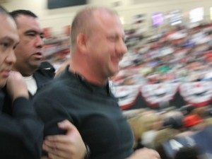 Heckler Evicted from Trump Rally (Joel Pollak / Breitbart News)