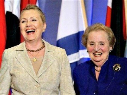 Hillary Clinton Madeline Albright APStephan Savoia