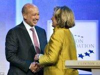 Hillary Clinton and Goldman Sachs CEO AP