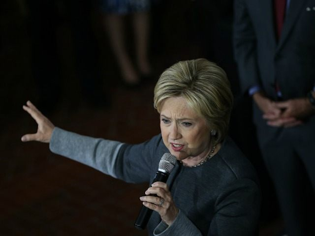Democratic presidential candidate former Secretary of State Hillary Clinton speaks during a 'Get Out The Vote' rally at the Lyman & Merrie Wood Museum of Springfield History on February 29, 2016 in Springfield, Massachusetts.