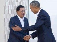 Hun Sen Obama (Pablo Martinez Monsivais / Associated Press)