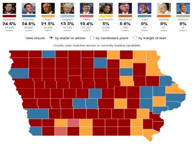 Iowa 2012 GOP DMR