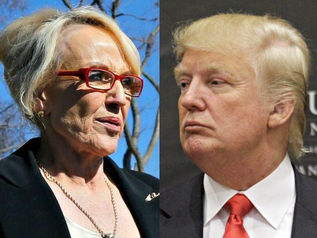 Jan Brewer and Donald Trump AP Photos