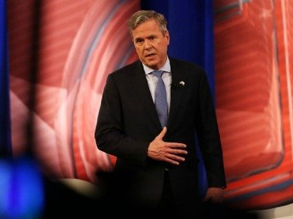 Republican presidential candidate Jeb Bush answers an audience members question in a CNN South Carolina Republican Presidential Town Hall with host Anderson Cooper on February 18, 2016 in Columbia, South Carolina.
