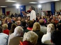 SALEM, NH - FEBRUARY 17: Republican Presidential candidate Jeb Bush holds a town hall at Woodbury School February 7,  2016 in Salem, New Hampshire. Candidates are in a last push for votes ahead of the first in the nation primary on February 9. (Photo by )