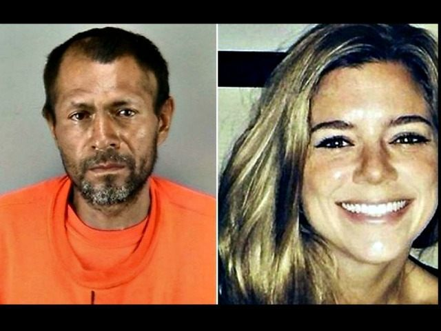 San Francisco shooting suspect Francisco Sanchez and victim Kathryn Steinle are shown in this composite photo. (Associated Press)