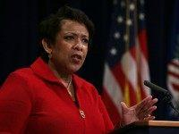Loretta Lynch speaks during an event at the Justice Department January 14, 2016 in Washington, DC.