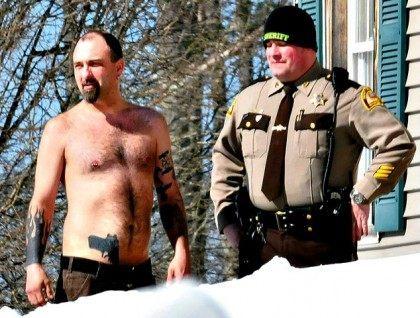 Maine Man Gun Tatoo AP PhotoMorning Sentinel, David Leaming