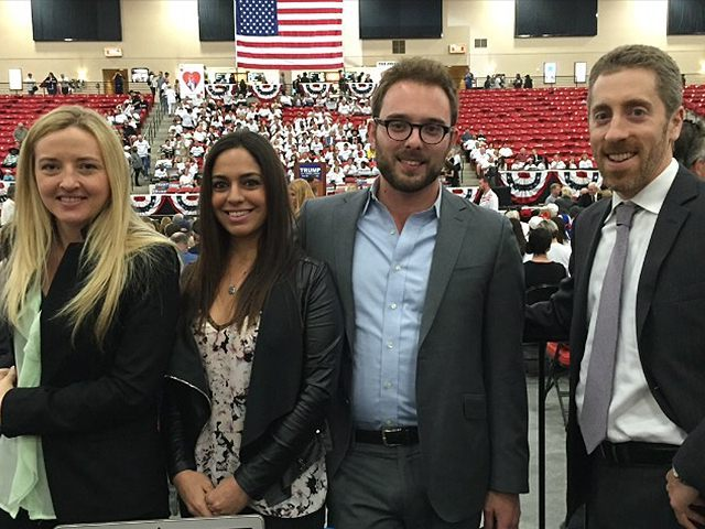 The Breitbart team reporting from Nevada (from left to right): Michelle Moons, Adelle Nazarian, Daniel Nussbaum, and Joel Pollak.