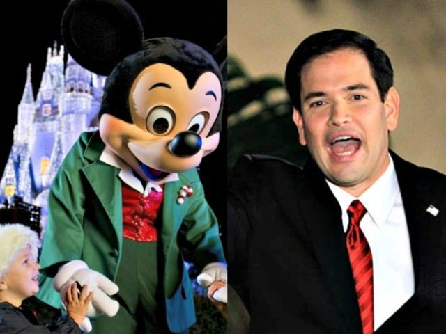 Mickey Disney and Marco Rubio Enthused Alan DiazAP