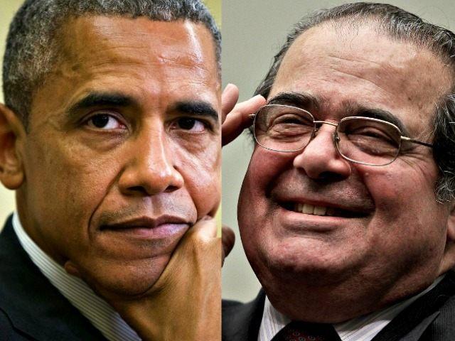 Obama (L) and Scalia