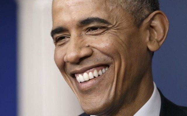Obama Smiles AP