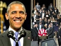 Obama Winks, Smiles and Scalia Funeral AP
