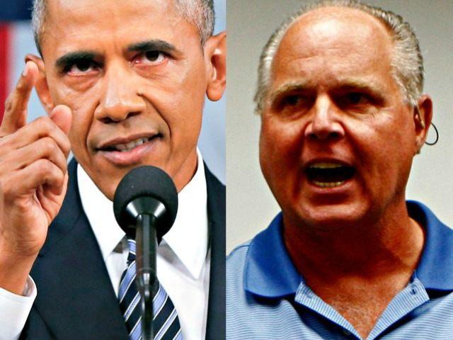 Obama and Limbaugh AP Photos