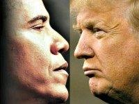 Obama and Trump face to face