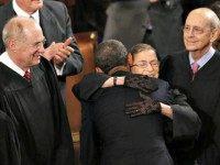 Obama hugs Ginsberg Jason Reid Reuters