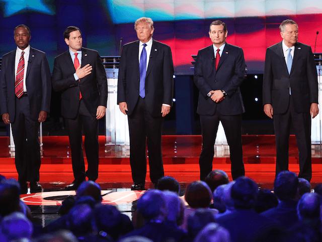 Rubio Trump Carson Cruz Kasich