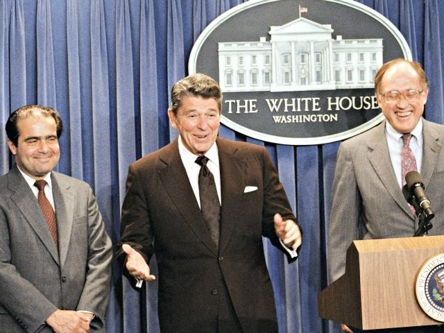 Reagan Scalia Rehnquist RON EDMONDS  AP