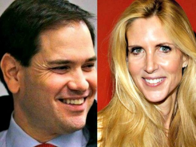 Rubio Grin and Ann Coulter