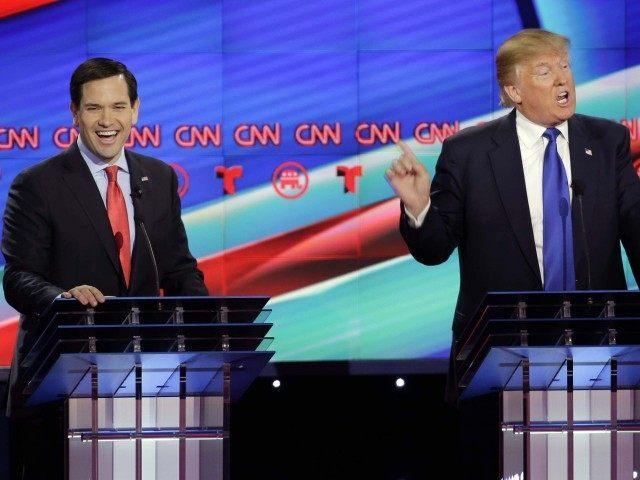 Rubio and Trump at GOP Debate (David J. Phillip / Associated Press)