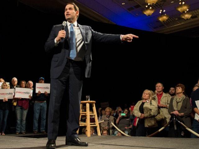 Republican presidential candidate, Sen. Marco Rubio February 22, 2016 in Reno, Nevada.