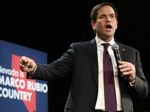 epublican presidential candidate Sen. Marco Rubio (R-FL) speaks at a rally at the Texas Station Gambling Hall & Hotel on February 21, 2016 in North Las Vegas, Nevada.