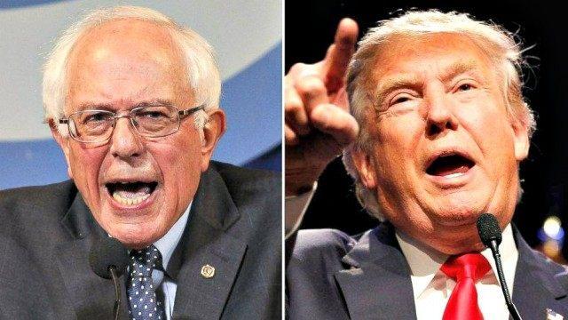 Sanders Trump AP