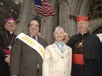 Saint Patrick's Cathedral - United States Supreme Justice Antonin Scalia and Mrs. Scalia - 61st Grand Marshal of the Columbus Day Parade hosted by the Columbus Citizens Foundation (PRNewsFoto/Columbus Citizens Foundation)
