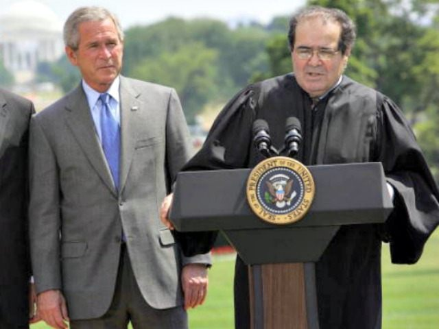 Scalia and George W Tim Sloan Getty