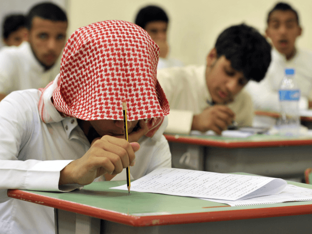 Saudi students sit for their final high school exams in the Red Sea port city of Jeddah on June 19, 2010 at the end of 2009/10 school year.