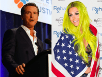 Newsom and Kesha (AP)