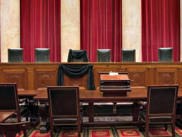 Supreme Court Black Drape for Scalia AP
