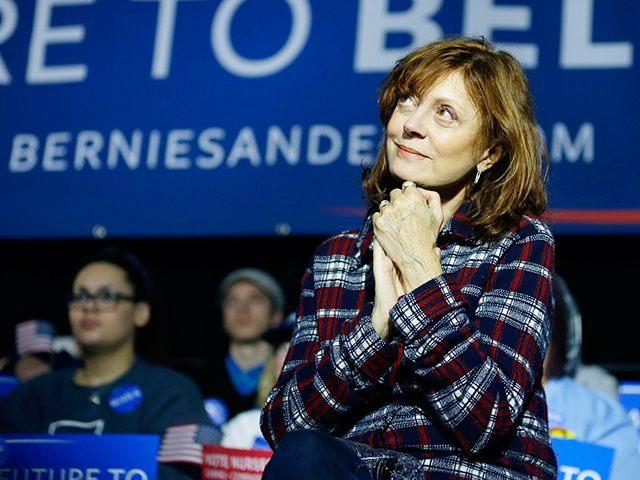 Susan-Sarandon-Bernie-Sanders-Rally-AP