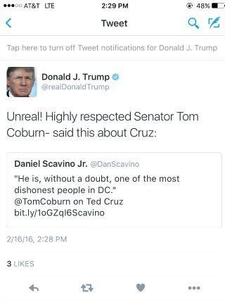 Trum coburn tweet